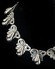 SCRUMPTIOUS DECO MEXICAN SILVER FRUIT and LEAF NECKLACE
