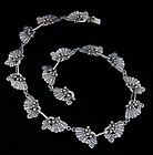 VICTORIA TAXCO MEXICAN SILVER pre-COLOMBIAN NECKLACE