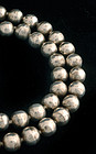 DECO MEXICAN SILVER and BIG HAND~MADE BEADS NECKLACE