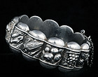 DECO SILVER REPOUSSE 12 MONTHS of the YEAR BRACELET