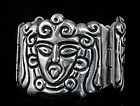 EARLY DECO MEXICAN SILVER REPOUSSE FIGURAL BRACELET