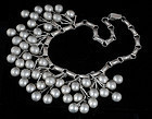 STUPENDOUS and HEAVY MEXICAN SILVER BIB NECKLACE