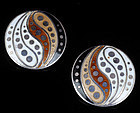 MARGOT de TAXCO MEXICAN SILVER and ENAMEL EARRINGS