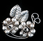 EARLY VICTORIA MEXICAN SILVER PIN BROOCH Ana Brilanti