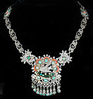 MEXICAN SILVER Stones MATL st PALOMA NECKLACE Eagle 1