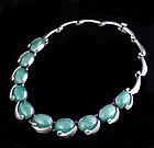 MEXICAN SILVER CHRYSOPRASE Pineda dsgn Mod NECKLACE