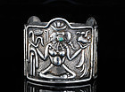 EARLY MEXICO CITY MEXICAN SILVER REPOUSSE BRACELET