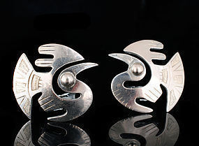 G. LAFFI for WELSCH SILVER and 18k GOLD EARRINGS