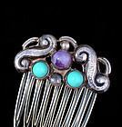 EARLY MATL Matilde POULAT MEXICAN SILVER HAIR COMB