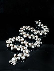 Deco MEXICAN Silver CAVIAR NECKLACE Spratling design