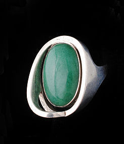 ERIKA HULT de CORRAL Ric MEXICAN SILVER stone mod RING