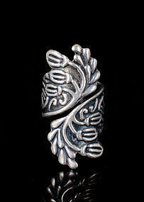Deco Pedro Castillo Mexican silver Acorn by pass Ring