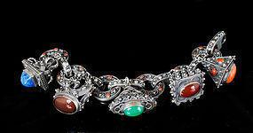 stupendous Italian 800 silver charm Bracelet Peruzzi st