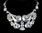 stupendous Lopez Mexican 980 silver pectoral Necklace