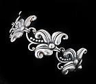 Margot de Taxco Mexican silver Hibiscus Bracelet 5488