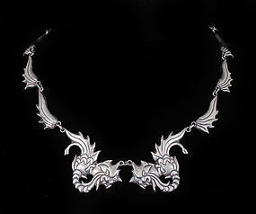 Mexican silver dragon Necklace Los Castillo desgn