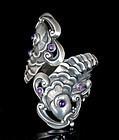 Margot de Taxco Mexican silver koi fish clamper Bracelet