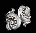 Gerardo Lopez Mexican silver repousse clamper Bracelet