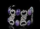 superlative Prosa Mexican silver amethyst wide Bracelet