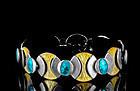 1960s Italian Uno A Erre modernist silver and enamel Bracelet