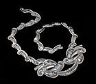 Margot de Taxco Mexican silver pectoral Necklace 5410
