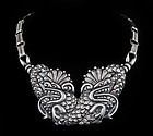 Mexican Deco 940 silver Chinese Dragons Necklace