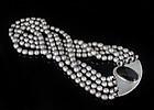 Sigi Pineda multi-strand silver pearl obsidian Necklace