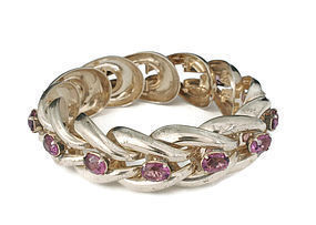 Parisina Mexican silver and gems Bracelet ~ Marcel Boucher