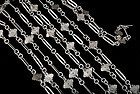 long antique Sommelier's silver tastevin chain Necklace