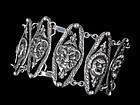 Deco Italian 800 silver theater masks Bracelet Peruzzi style