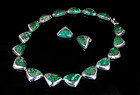 Ledesma Mexican silver azur-malachite Necklace Earrings set