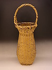 Japanese Mid 20th century large white bamboo basket