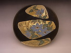 Japanese 20th-21st century floral design plate