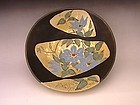 Japanese 20-21st C Ceramic Plate with Floral Design