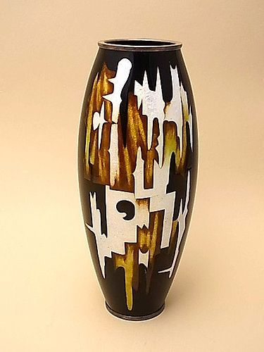 Japanese E. to Mid 20th Century Cloisonne Vase by Ota Hiroaki