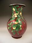 Japanese Meiji Period Large Ando Cloisonne Vase
