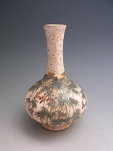 Japanese E. 20th Century Fine Kinkozan Satsuma Vase