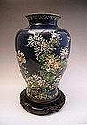 Japanese Early 20th Century INABA Cloisonne Vase