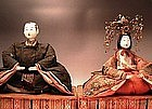 Japanese L. Edo Period Hina doll set