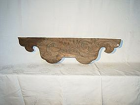 Japanese Edo Period Carved Keyaki Wood Ranma