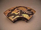 Japanese Meiji Period Komai-Style Iron Fan Shaped Box