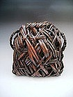 Japanese Meiji Period Wall Hanging Basket
