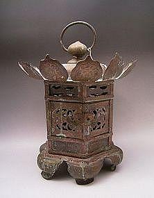 Japanese Early 20th Century Bronze Lantern