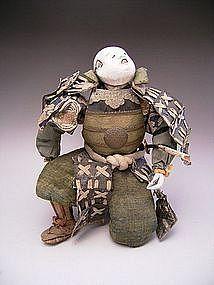 Japanese Early Meiji Period Kneeling Samurai Doll