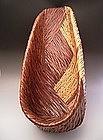 Japanese Mid 10th Century Large Bamboo Basket