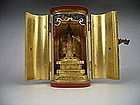 Japanese Early 20th C. Zushi Portable Shrine