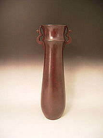 Japanese 20th C. Bronze Vase by Nakajima Yasumi II
