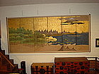 Japanese Early 19th C. Large 6-Fold Screen of Mt. Fuji