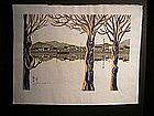 Japanese 20th C. Woodblock Print by Junichiro Sekino