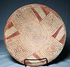 Mimbres / Three Circle red on white bowl ca. 850 to 1000 ad.